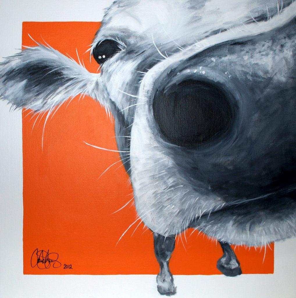 Originalmålning i akryl på uppspänd canvasduk. 70x70cm. Såld.