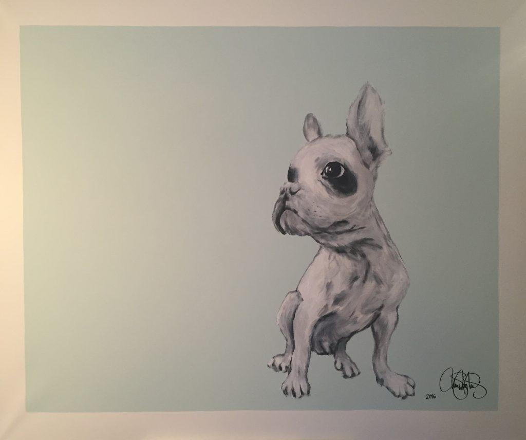 Akrylmålning i original på uppspänd duk. 120x150cm. Till Salu för 8900sek.