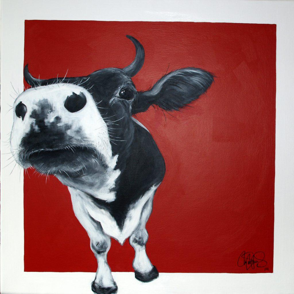 Akrylmålning i original på uppspänd duk. 90x90cm. Såld