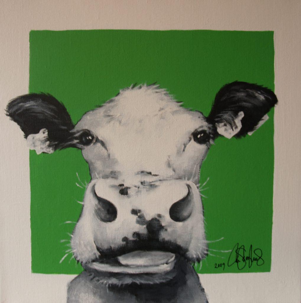 Akrylmålning i original på uppspänd duk. 50x50cm. Såld.