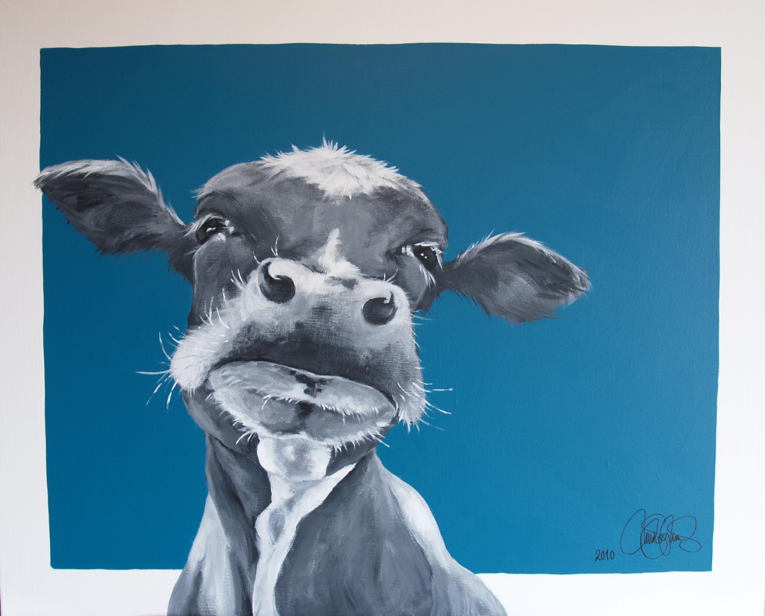 Akrylmålning i original. Sold