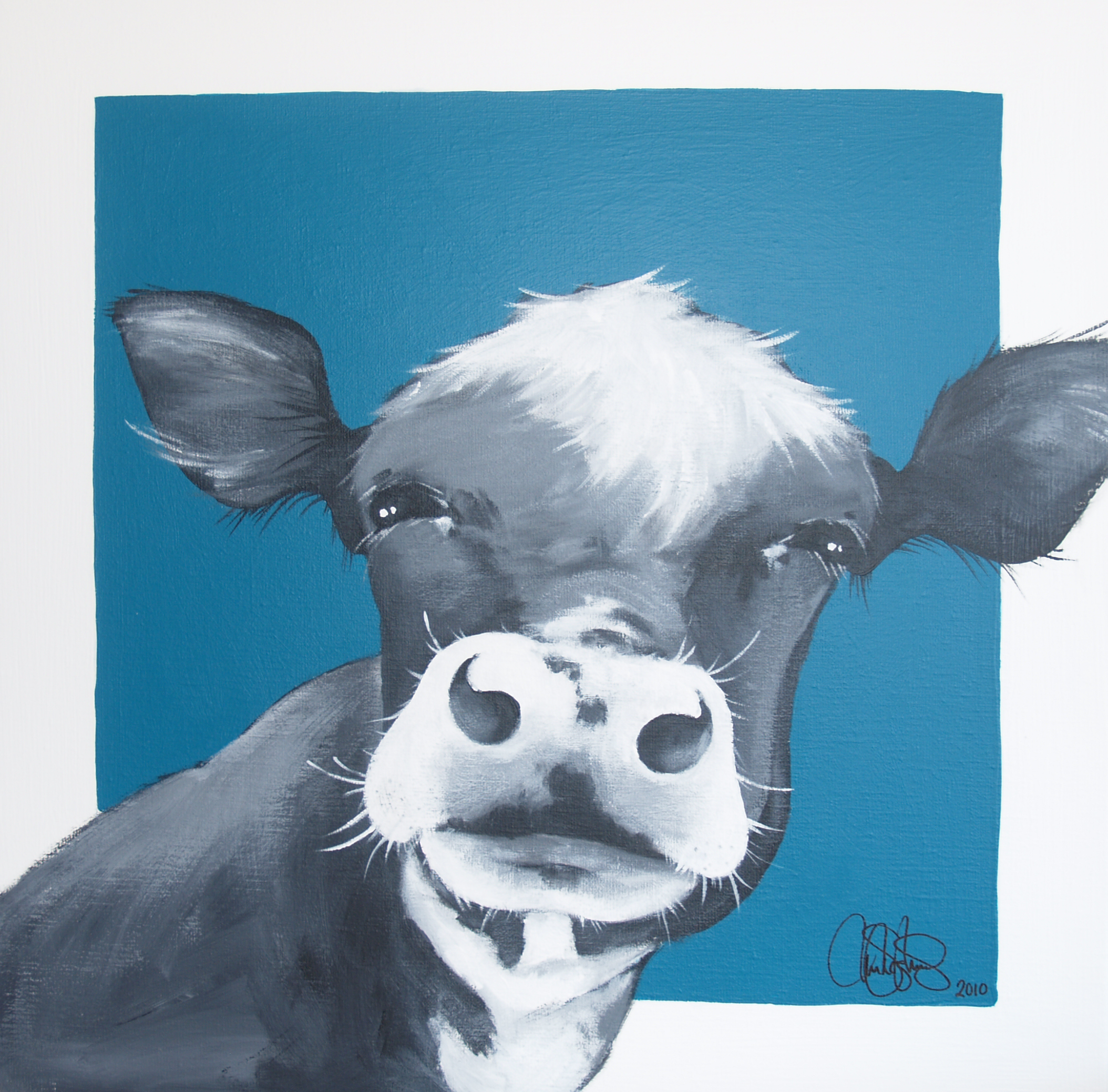 Akrylmålning i original på uppspänd duk. 50x50cm. Såld