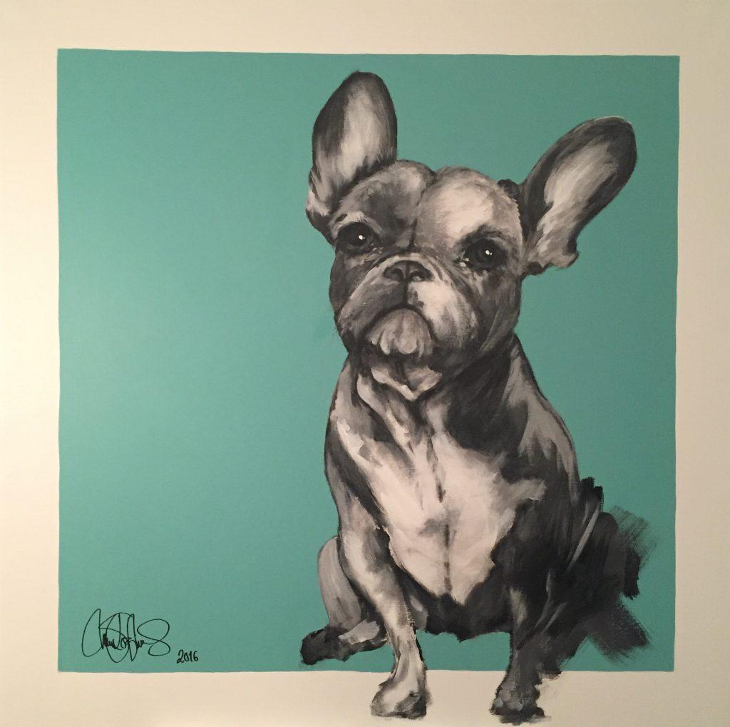 Akrylmålning i original. Till salu för 6900sek.