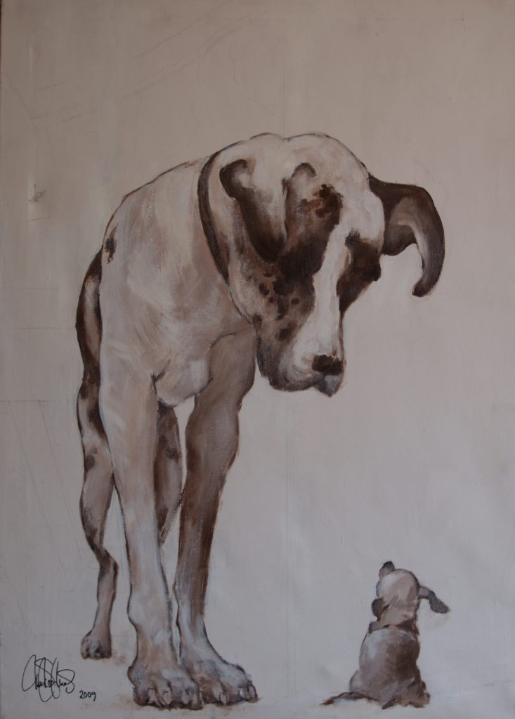 Akrylmålning i original målad på uppspänd canvasduk. 50x70cm. Såld.