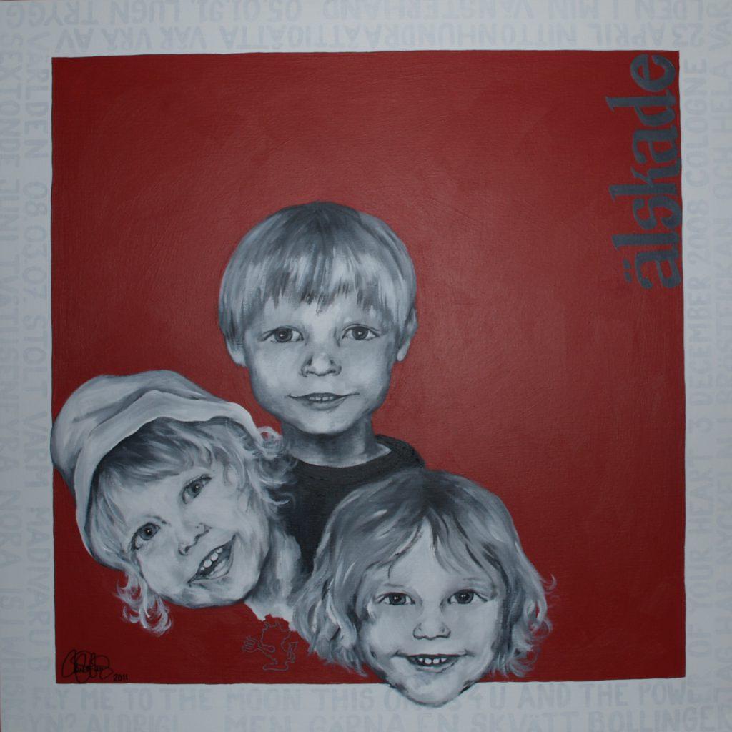 Originalmålning i akryl. 90x90cm. Såld.