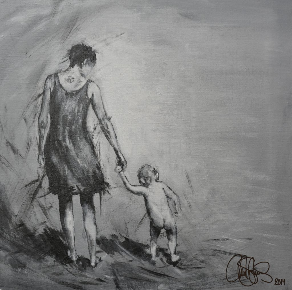 Originalmålning i akryl. 50x50cm. Såld
