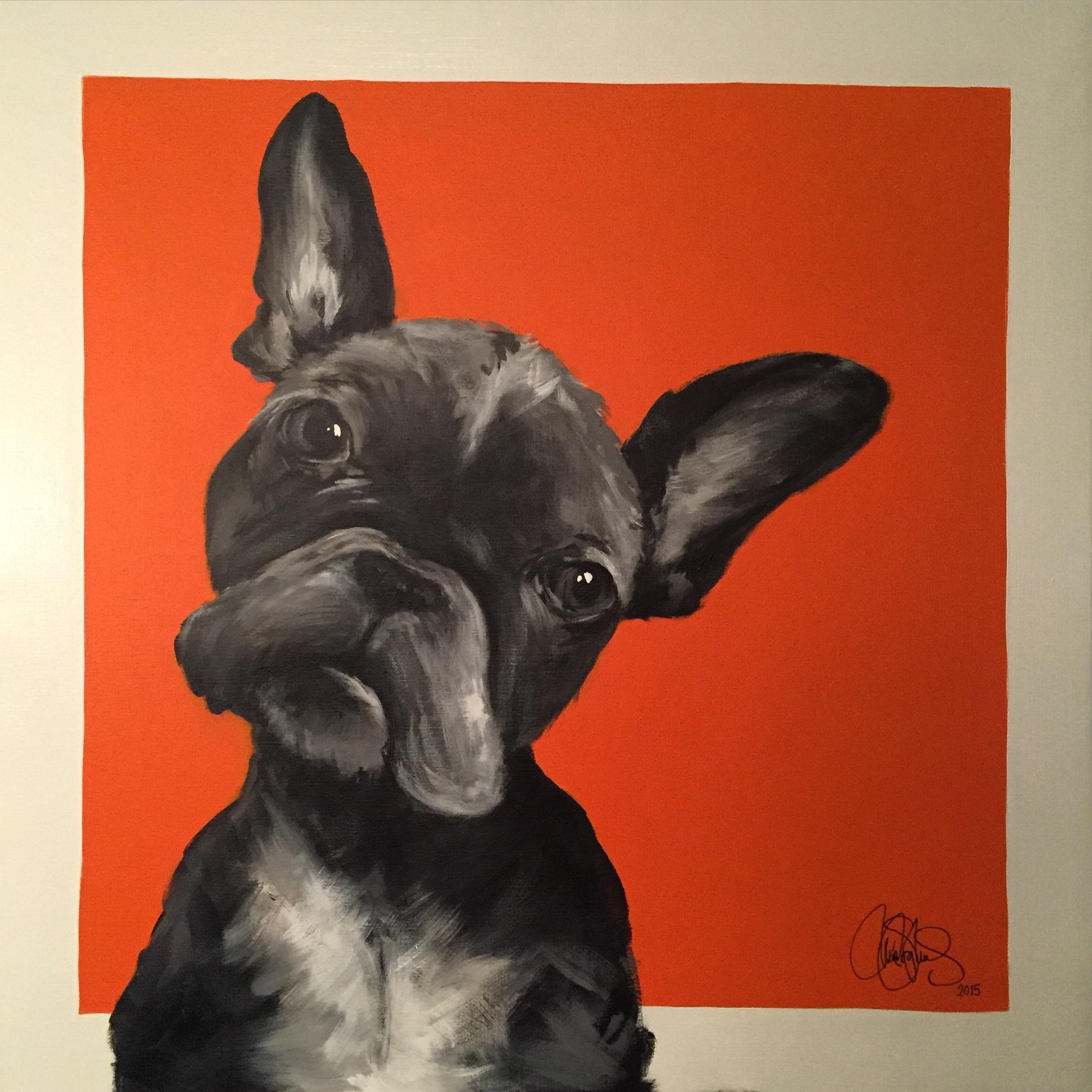 Akrylmålning i original. Till salu.
