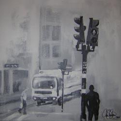 Akrylmålning 50x50cm. Såld.