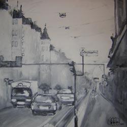 Akrylmålning i original. 90x90cm. Såld