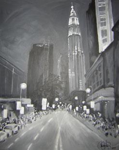 Akrylmålning i original. 80x100cm. Såld