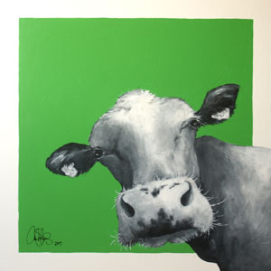 Akrylmålning 50x50cm. Såld