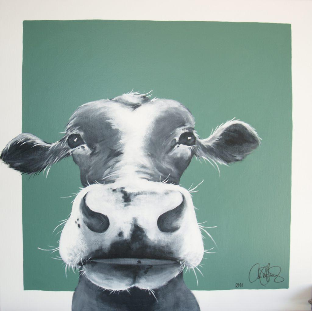 Akrylmålning i original på uppspänd duk. 90x90cm. Såld.