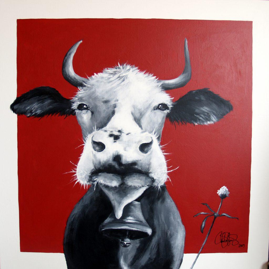 Akrylmålning i original på uppspänd duk. 80x100cm. Stulen!