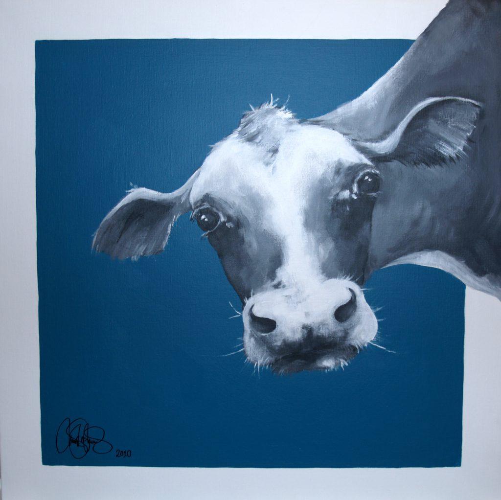 Akrylmålning i original. 70x70cm. Såld.