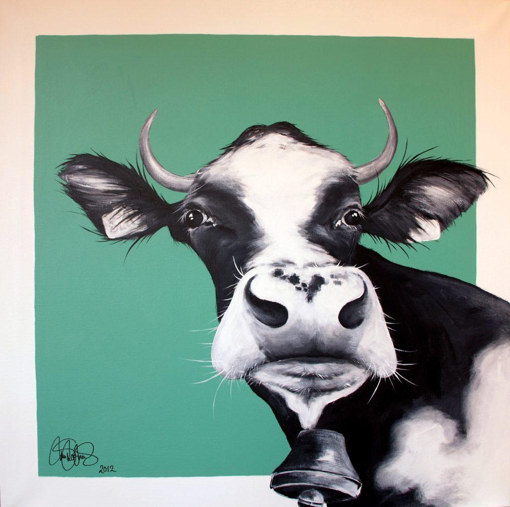 Akrylmålning i original 90x90cm. Såld