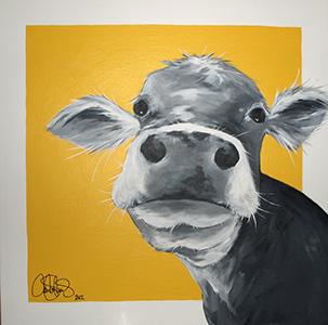 Akrylmålning i original. 70x70cm. Såld