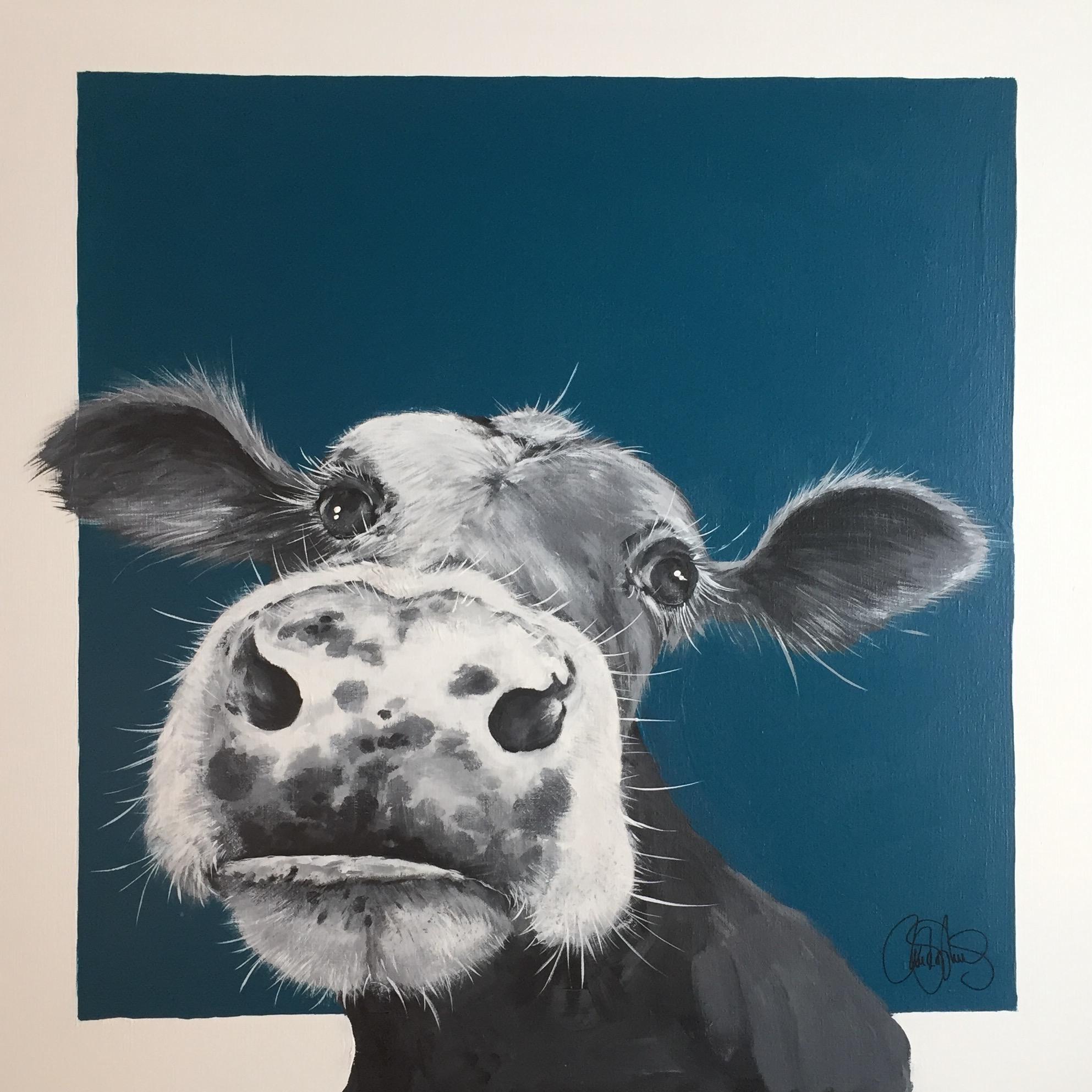 Originalmålning i akryl på uppspänd canvasduk. 90x90cm. Till salu för 6900sek