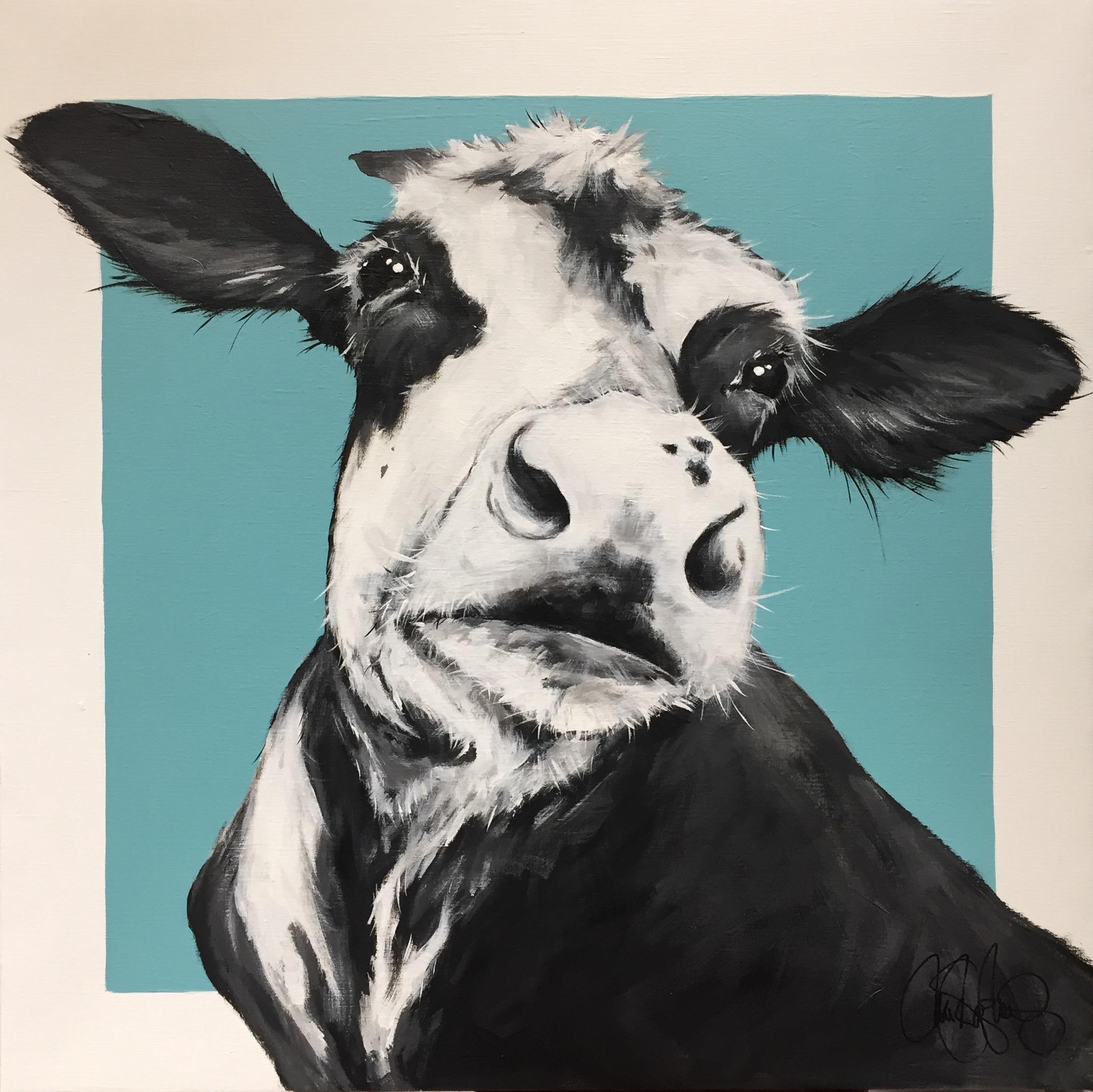 Akrylmålning i original. 70x70cm. Till salu för 4900sek
