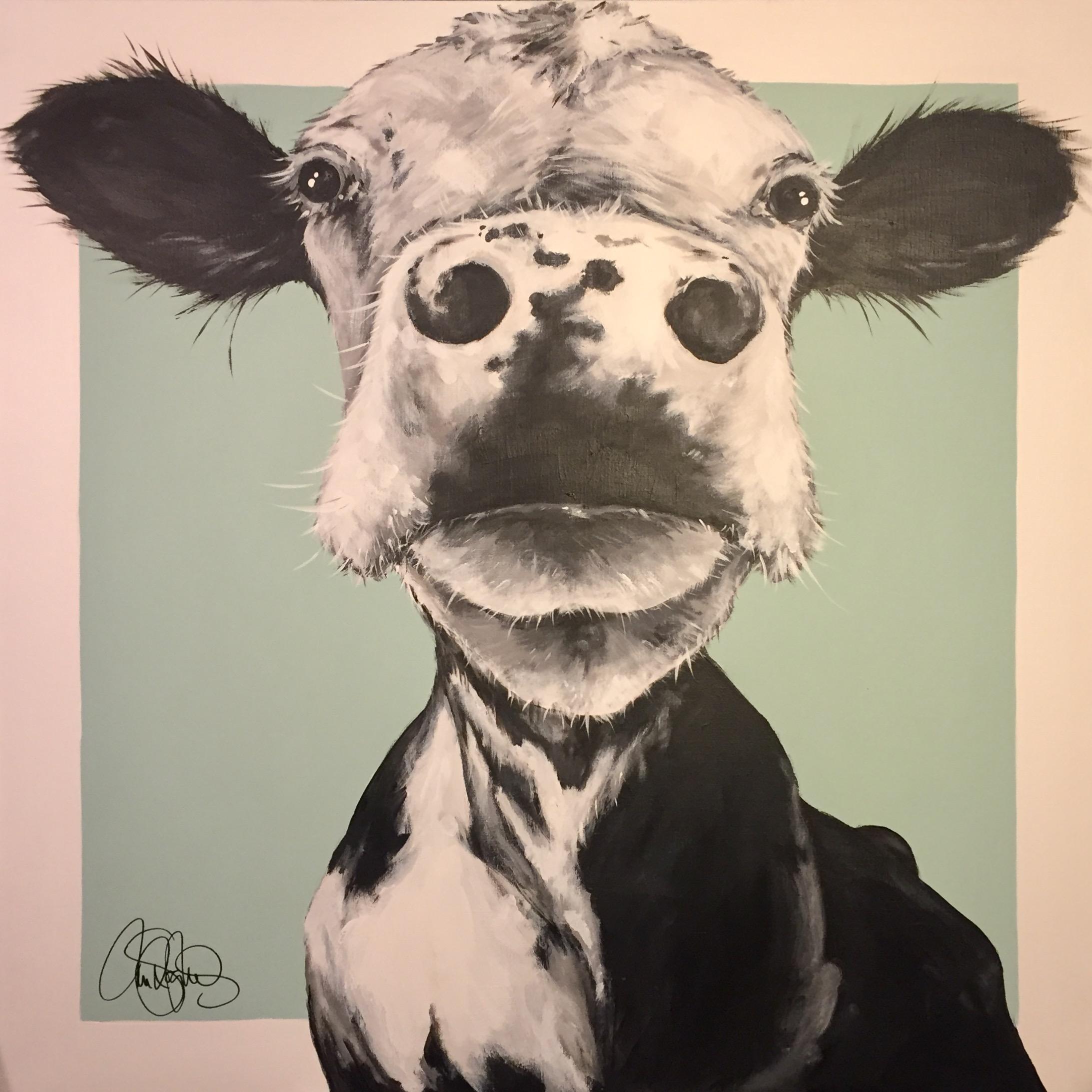 Akrylmålning i original. 90x90cm. Till salu för 6900sek.