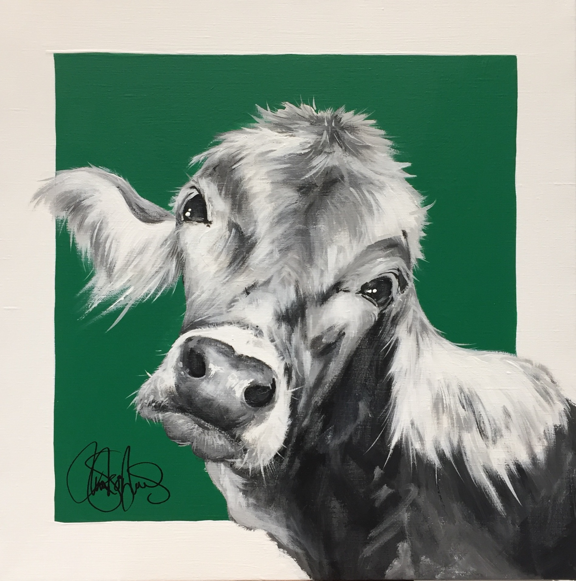 Akrylmålning i original. 50x50cm. Till salu för 3500sek.